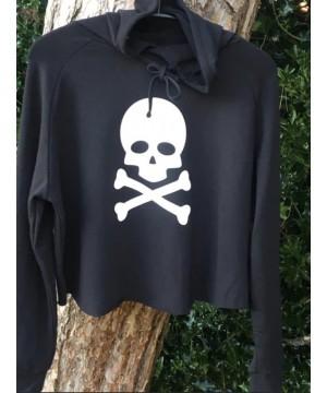 Step n Pump Essentials Black Crossbone and Skull Cross Back Hoodie