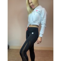 Step n Pump Essentials Mesh Panel Black Leggings