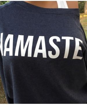 Step n Pump Essentials Navy Namaste Slounge Top with White Logo