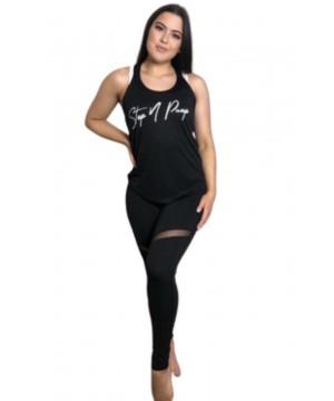 Step n Pump Essentials Black-White Signature Layering Vest