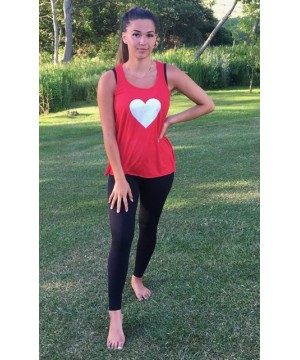 Step n Pump Essentials Red Glitter Heart Flowy Vest Top