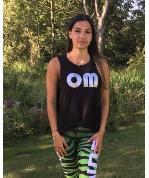 Step n Pump Essentials OM Organic Cotton Black Crop Vest