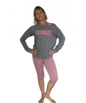 Step n Pump Essentials Grey Namaste Slounge Top With Pink Logo