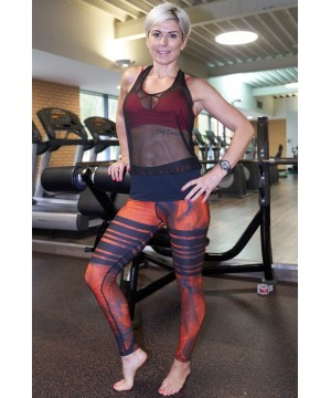 Combat Dollies Red Tribe Fitness Leggings