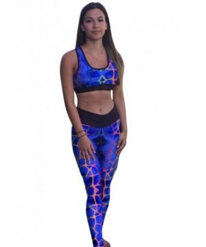 Combat Dollies Exclusive Blue Giraffe Fitness Leggings