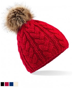 Step n Pump Essentials Faux Fur Pop Pom Beanie