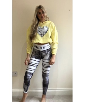 Step n Pump Essentials Lemon Zebra Heart Hoodie