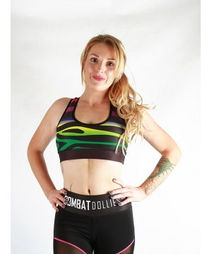 Combat Dollies Multi-Stripe Sports Bra