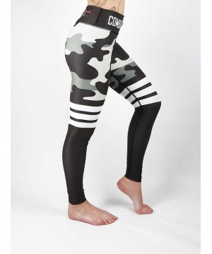 Combat Dollies Grey Camo Stripe Fitness Leggings