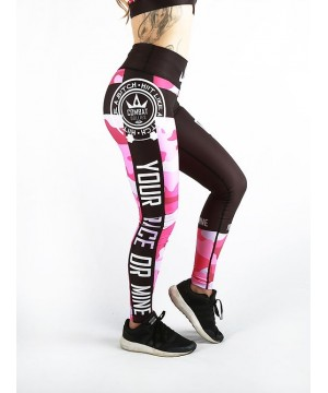 Combat Dollies Pink Camo Fitness Leggings