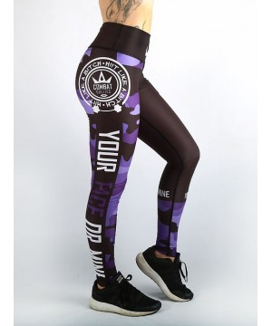 Combat Dollies Purple Camo Fitness Leggings