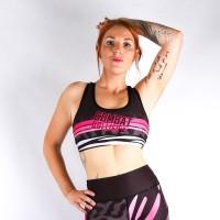Combat Dollies Wild Pinks Sports Bra