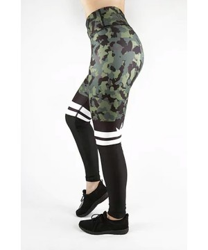 Combat Dollies Khaki Camo Half Mesh Fitness Leggings
