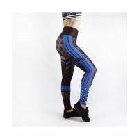 Combat Dollies Wild Blue Fitness Leggings