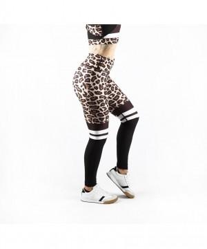 Combat Dollies Leopard Print Half Mesh Fitness Leggings