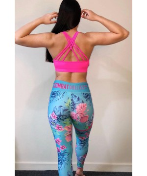 Combat Dollies Tropical Blue Fitness Leggings