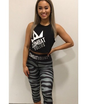 Combat Dollies Grey Zebra Fitness Capri