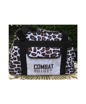 Combat Dollies White Leopard Sports Bag