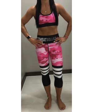 Combat Dollies Pink Camo Stripe Capris