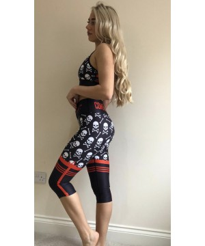 Combat Dollies Skull & Cross Bones Fitness Capri