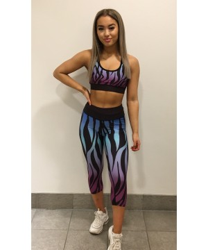 Combat Dollies Exclusive Blue Zebra Sports Bra