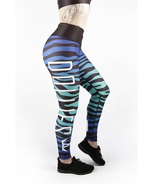 Combat Dollies Blue Zebra Fitness Leggings