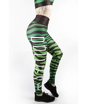 Combat Dollies Green Zebra Fitness Leggings
