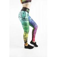 Combat Dollies Multi-coloured Comic Fitness Leggings