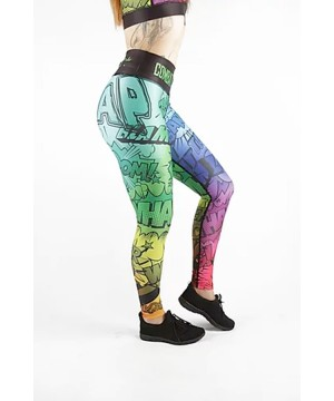 Combat Dollies Multi-coloured Comic Fitness Leggings