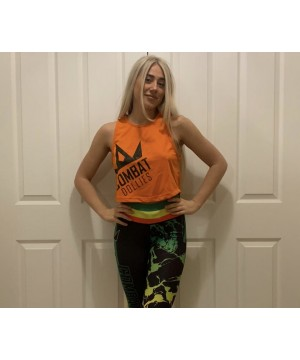 Combat Dollies Orange Cropped Vest