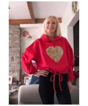 Step n Pump Essentials Red Leopard Heart Hoodies