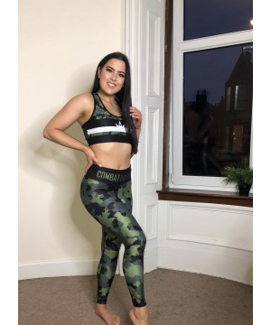 Combat Dollies Complete Khaki Camo Fitness Leggings