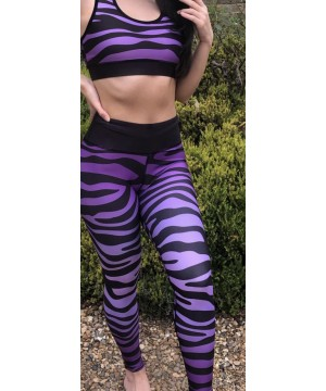 Combat Dollies Purple Zebra Fitness Leggings
