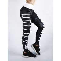 Combat Dollies Black Camo Fitness Leggings