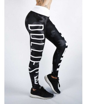 Combat Dollies Black Camo Fitness Leggings