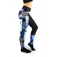 Combat Dollies Blue Camo Fitness Leggings