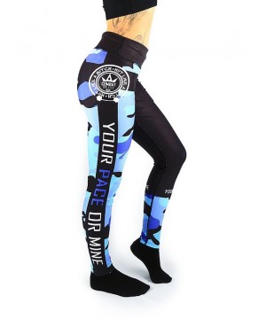 Combat Dollies Blue Camo Fitness Leggings