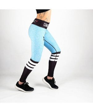 Combat Dollies Blue Crossfit Fitness Leggings