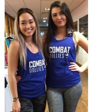 Combat Dollies Royal Blue Strap Back Vest