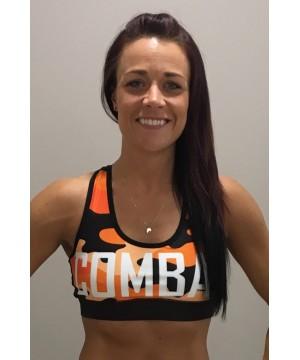 Combat Dollies Orange Camo Sports Bra