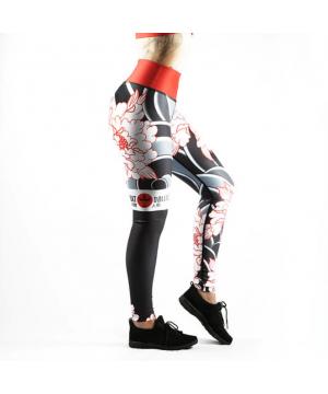 Combat Dollies Tumbling Peonies Fitness Leggings