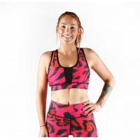 Combat Dollies Pink Leopard Sports Bra