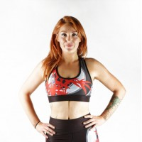 Combat Dollies Red Bamboo Sports Bra
