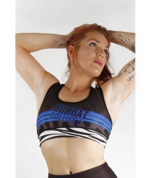 Combat Dollies Wild Blue Sports Bra