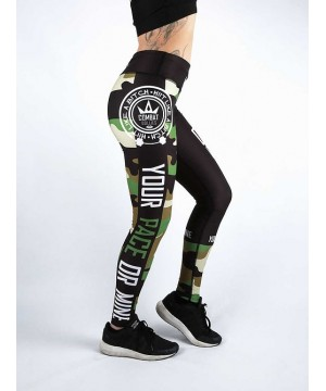 Combat Dollies Green Camo Fitness Leggings