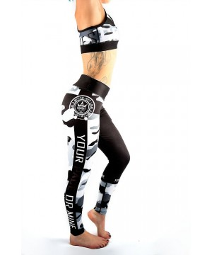 Combat Dollies Grey Camo Fitness Leggings