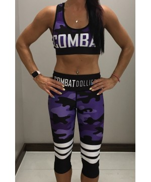 Combat Dollies Purple Camo Stripe Capris