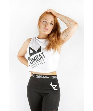 Combat Dollies White Cropped Vest