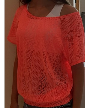 Denichi C10 Coral Lace Slouch Top