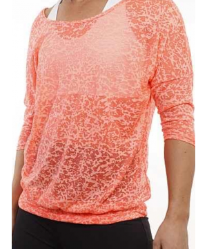 Denichi C10 Coral Burnout Slouch Top